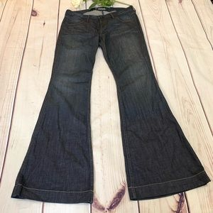 HUDSON super Flare wide leg Blue dark wash jeans